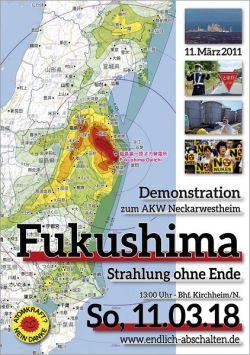 Plakat zur Fukushima-Demo 11.3.2018